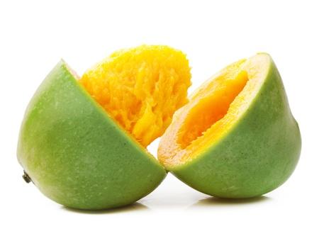 mango leaves: Mango Halves