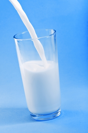 Pouring Milk in Glass photo