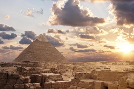 Sunset at Pyramids Reklamní fotografie