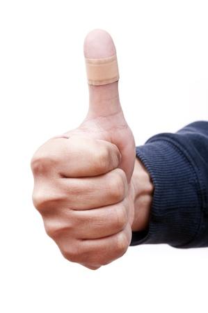 Bandaged Thumb Up photo