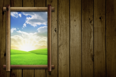 Field Through Window Stock Photo - 14897159