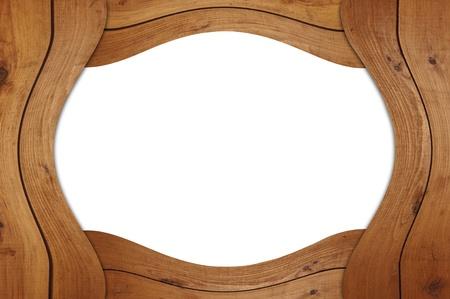 marco madera: Marco de madera en blanco Foto de archivo