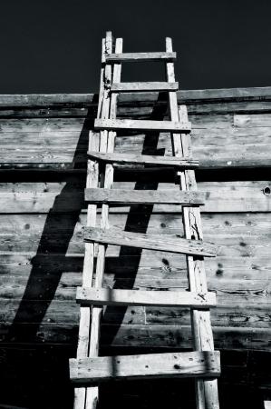 semblance: Grungy Scaletta e ombre Archivio Fotografico