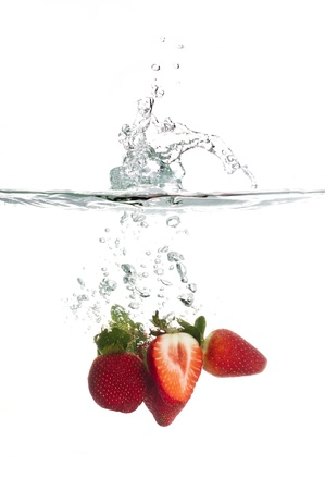 Strawberry Splash Stock Photo - 15196839