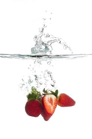 Strawberry Splash Stock Photo - 15196839