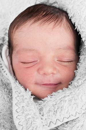 baby angel: Dormire Sorriso bambino Archivio Fotografico