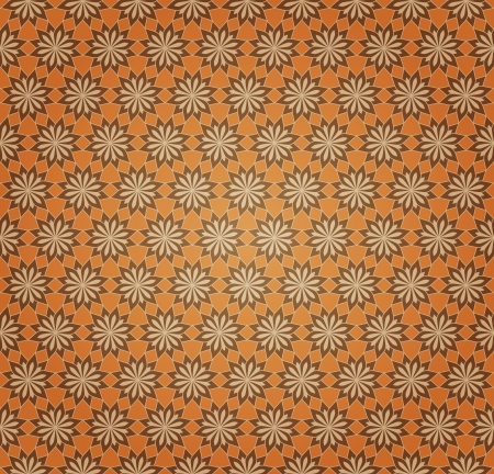 Vector Background of Orange Seamless Flower Pattern Stock Vector - 16213852