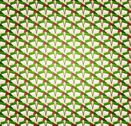 Vector Background of Abstract Greenish Seamless Pattern Vector