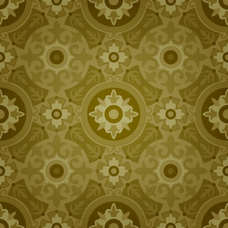 Vector Background of Dark Decorative Geometric Seamless Pattern Vector