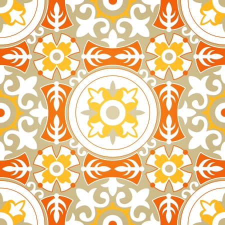Vector Background of Soft Floral Geometric Seamless Pattern Illustration