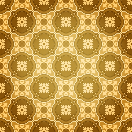 islamic pattern: Vector Background of Golden Seamless Wall Pattern