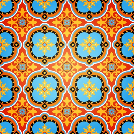 Background of Colorful Decorative Seamless Pattern Illustration