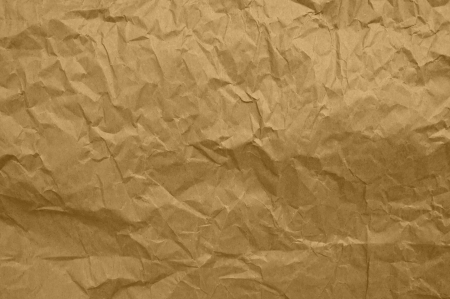 Yellow Wrinkled Paper Background Texture photo