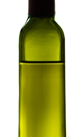 olive oil bottle: Olive Oil Isolated on White Background