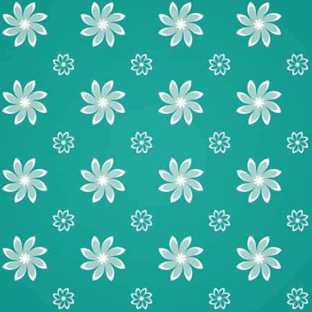 Abstract Background of Green Sealmess Flower Pattern Vector