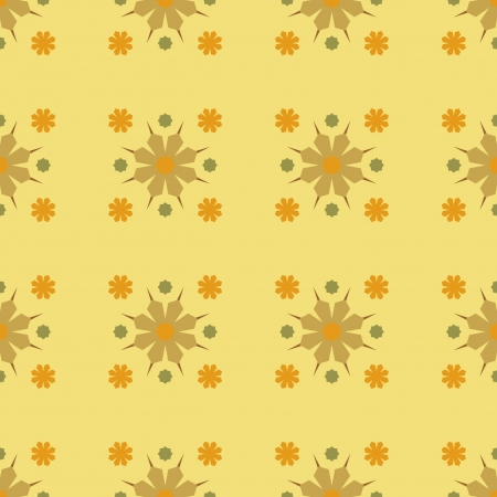 Abstract Background of Seamles Geometric Yellow Flower Pattern Vector