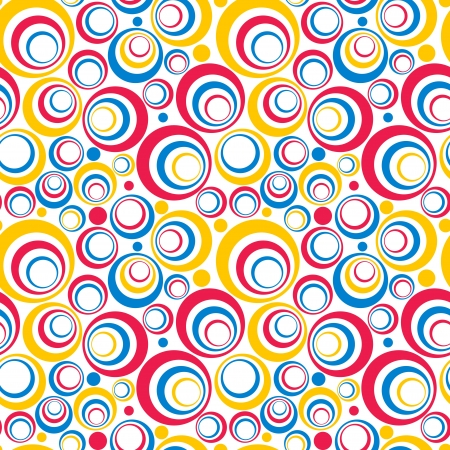 Abstract Background of Colorful Circles Seamless Pattern Stock Vector - 17084312