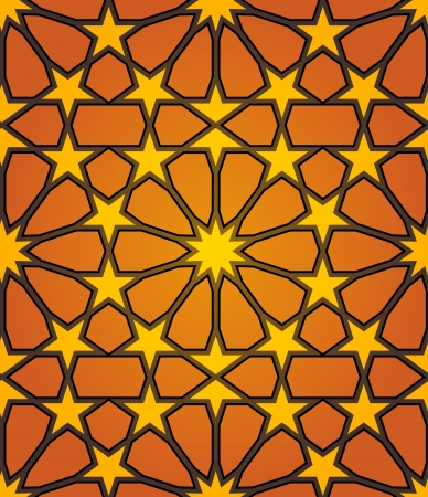 islamic calligraphy: Abstract Background of Islamic Star Seamless Pattern Illustration