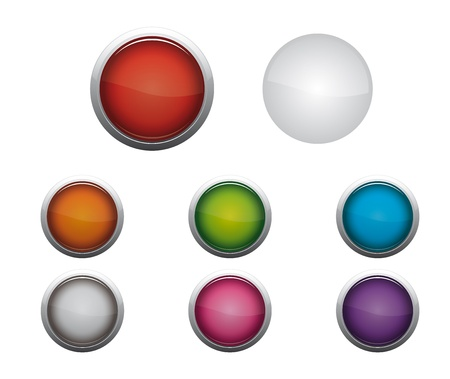 Abstract Vector Glossy Web Buttons of Internet  Stock Vector - 17084468