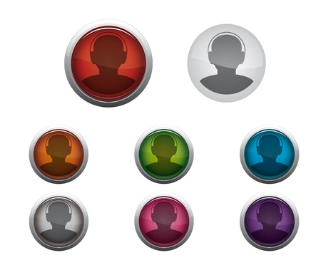 Abstract Glossy Web Buttons of Internet Call Stock Vector - 17084557