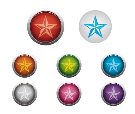 favoritos: Resumen Botones Web Brillante de Favoritos de Internet Vectores