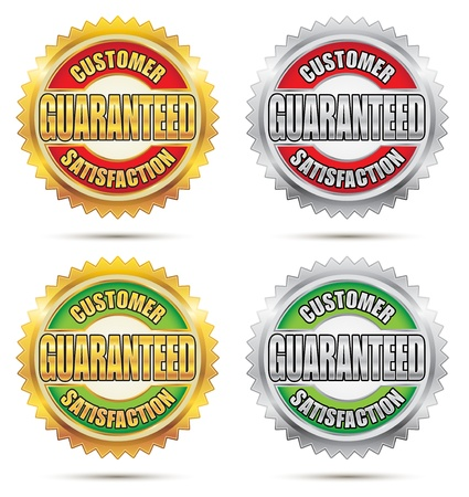 Seal of Customer Satisfaction Guaranteed Vector