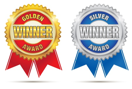 Seal of Gold And Silver Awards Vector