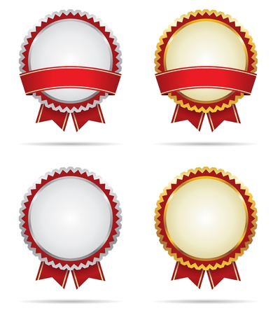 Seal of Gold and Silver Award Badges Stock Vector - 17084614