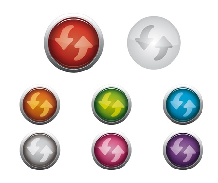 Abstract Glossy Web Buttons of Internet Refresh Stock Vector - 17084517
