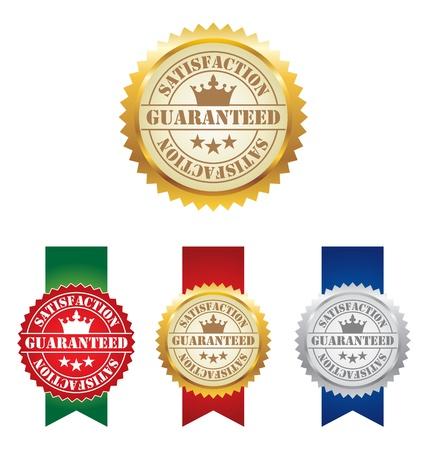 satisfaction guaranteed: Vector Seal of Satisfaction Guaranteed Labels