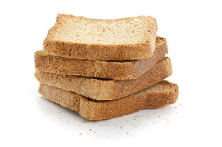 Stack of Toast Isolated on White Background photo