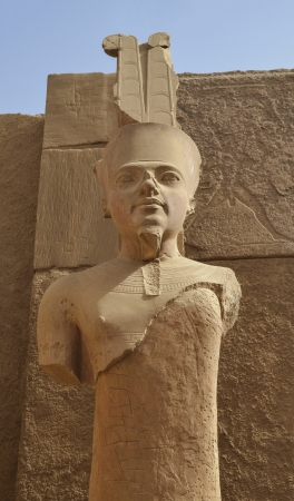 A Statue of Amun Re in the Temple of Amun in Karnak, Luxor, Egypt. Stock Photo - 17373180