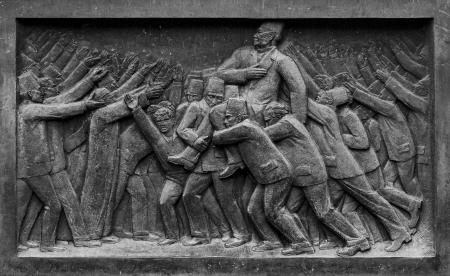 alexandria egypt: Saad Zaghloul Pasha Leading Egyptian Historical Uprising Sculpture Stock Photo
