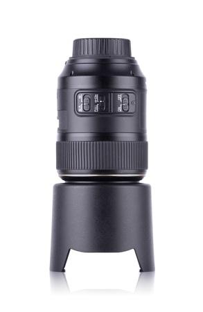 Large DSLR Camera Lens Isolated on White Background Stock Photo - 17622252