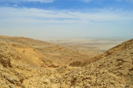 sandhills: Wild Yellow Sand Desert Under Blue Sky Stock Photo