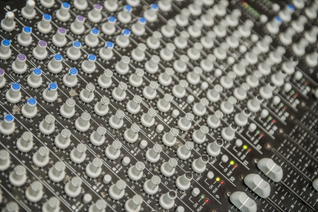 Close Up Photo of a Multi Channel Sound Mixer photo