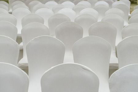 Repeating Pattern of Theater White Chairs  photo