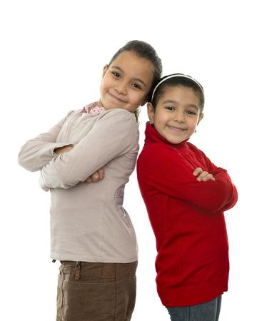 kids hugging: Two Best Friends Girls