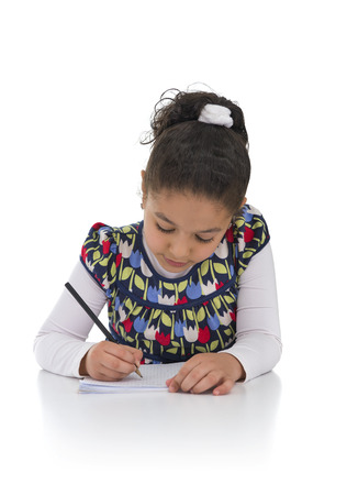 Education Girl Isolated on White Background photo