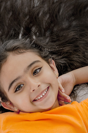 pervasive: Close Up Portrait of Young Girl with Beautiful Hair