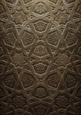 art door: Vintage Background of Decorative Islamic Wood Art