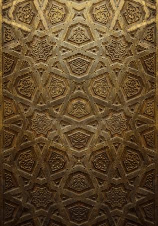 art door: Vintage Background of Decorative Islamic Wood Art Door