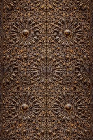 Dekorativní islámského umění Wood Door pozadí