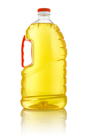 Large Corn Cooking Oil Bottle Isolated on White Background