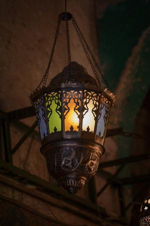 dangling: Dangling Decorative Ramadan Festive Lantern Glowing in Dark