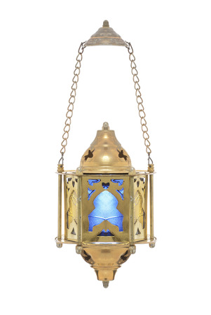 dangling: Festive Dangling Ramadan Lantern Isolated on White Background