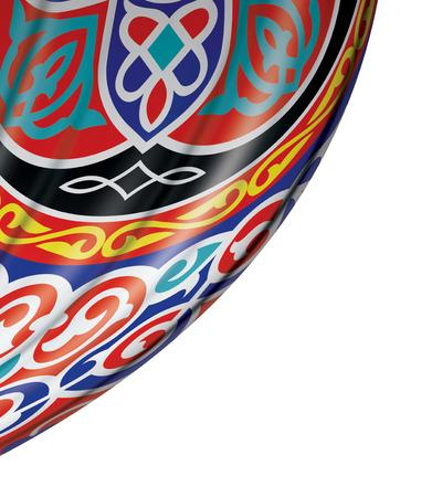 cortinas rojas: Festivo Ramadán Cortina aislada sobre fondo blanco