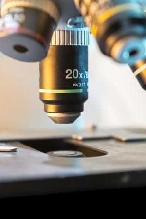 labratory: A Professional Medical Laboratory Scientific Microscope Stock Photo