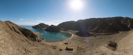 Landscape View of Fjord Bay, Red Sea, Taba, Sinai, Egypt 版權商用圖片