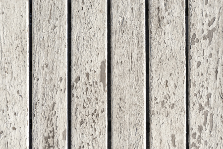 White Peeled Paint Texture of Vertical Wood Lines Background